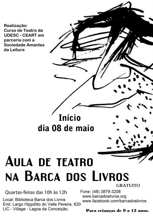 AULAS DE TEATRO NA BARCA DOS LIVROS!