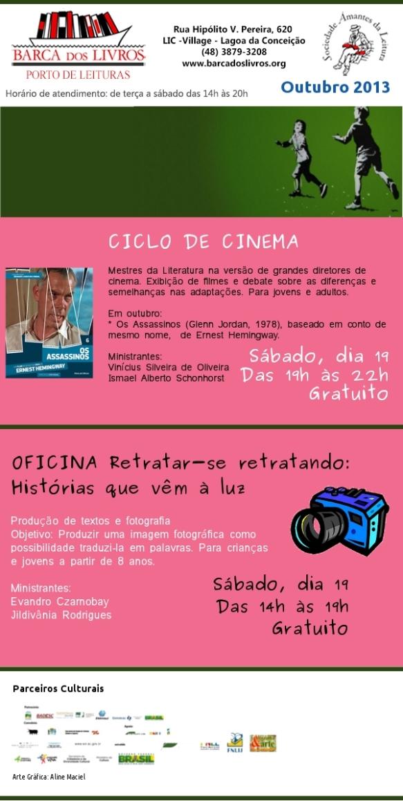 Ciclo de Cinema + Oficina para crianças e jovens