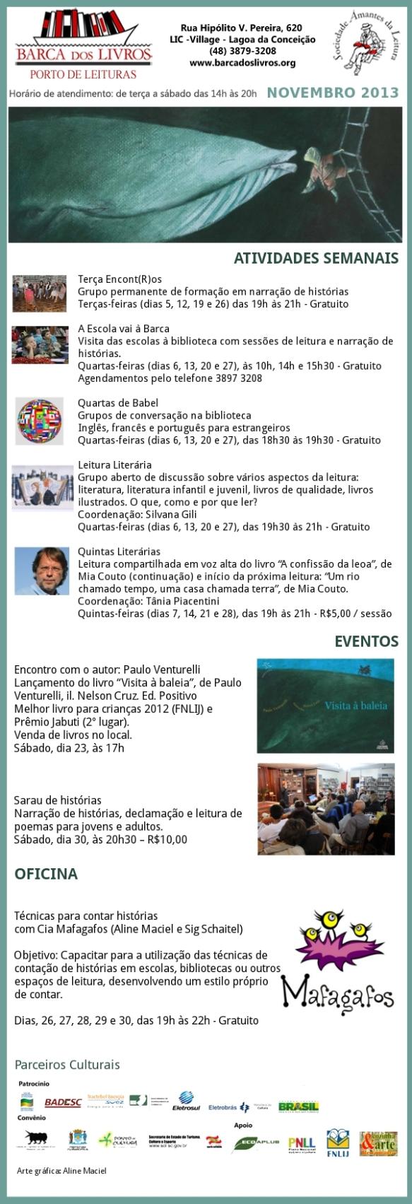 Atividades Semanais + Próximos Eventos