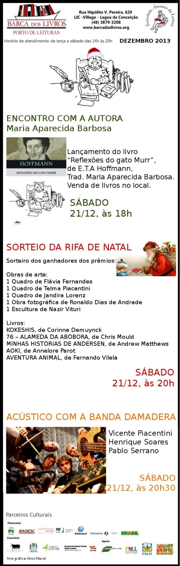 Encontro com a autora + Rifa de Natal + Acústico Damadera