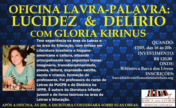 Oficina com Gloria Kirinus na Barca dos Livros