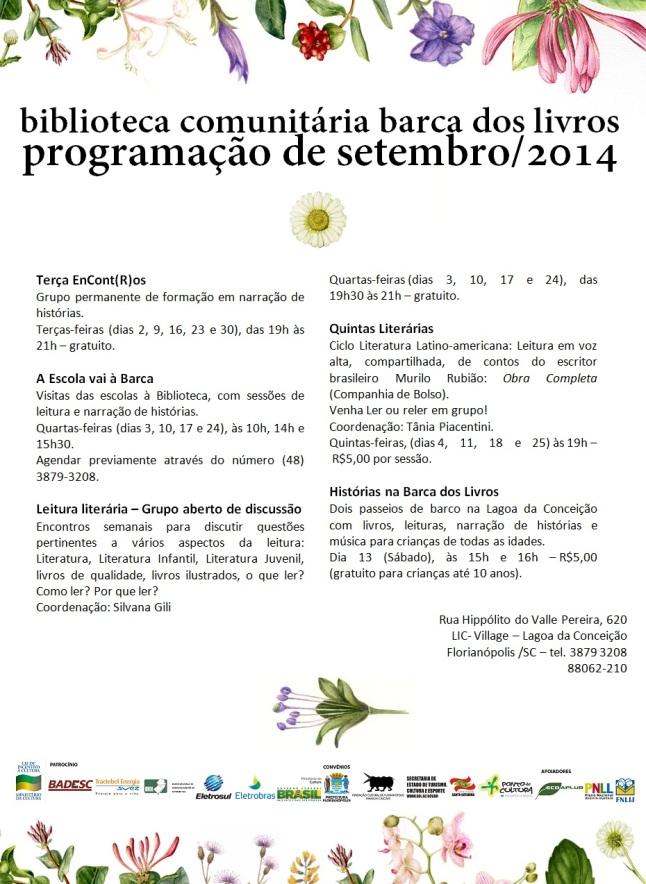 Programação setembro