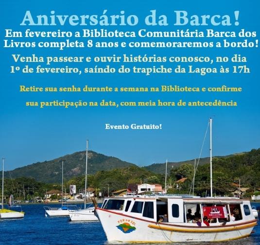 Aniversario da Barca dos Livros