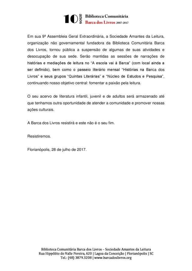 comunicado_BarcaDosLivros